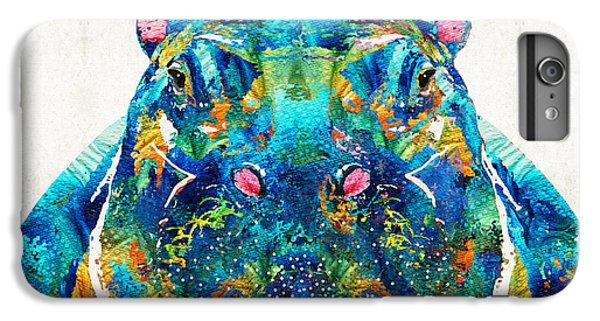 Hippopotamus Art - Happy Hippo - By Sharon Cummings IPhone 6 Plus Case by Sharon Cummings