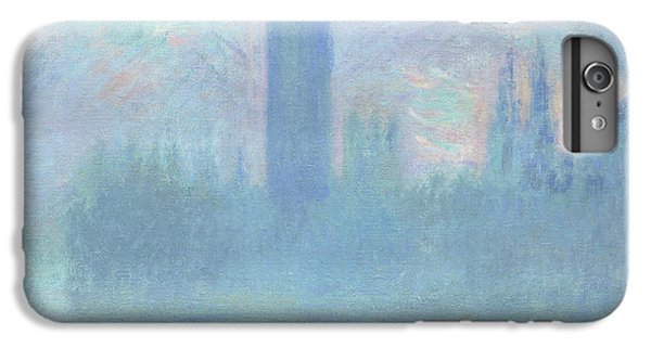 Houses Of Parliament  London IPhone 6 Plus Case by Claude Monet