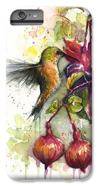 Hummingbird And Fuchsia IPhone 6 Plus Case by Olga Shvartsur
