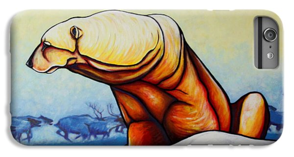 Hunger Burns - Polar Bear And Caribou IPhone 6 Plus Case by Joe  Triano