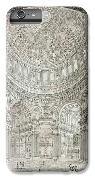 Interior Of Saint Pauls Cathedral IPhone 6 Plus Case by John Coney