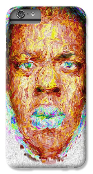 Jay Z Painted Digitally 2 IPhone 6 Plus Case by David Haskett