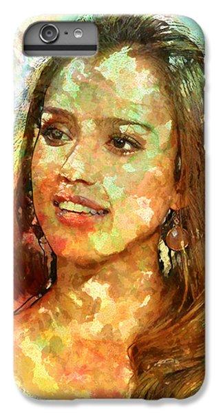 Jessica Alba IPhone 6 Plus Case by Elena Kosvincheva