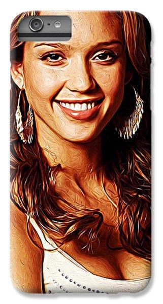Jessica Alba IPhone 6 Plus Case by Iguanna Espinosa