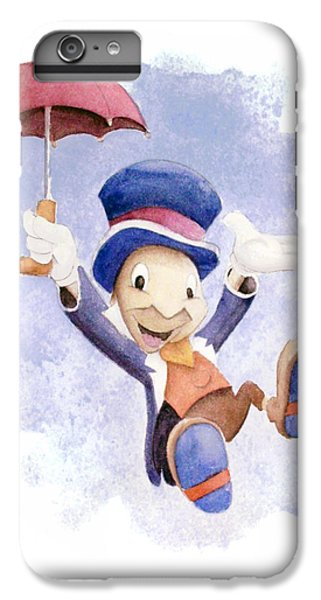Jiminy Cricket With Umbrella IPhone 6 Plus Case by Andrew Fling