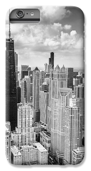 John Hancock Building In The Gold Coast Black And White IPhone 6 Plus Case by Adam Romanowicz