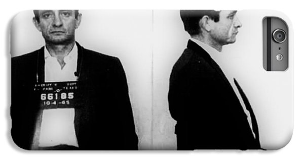 Johnny Cash Mug Shot Horizontal IPhone 6 Plus Case by Tony Rubino