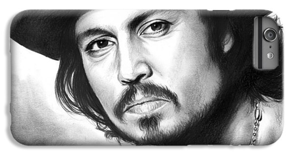 Johnny Depp IPhone 6 Plus Case by Greg Joens