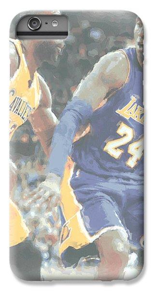 Kobe Bryant Lebron James 2 IPhone 6 Plus Case by Joe Hamilton