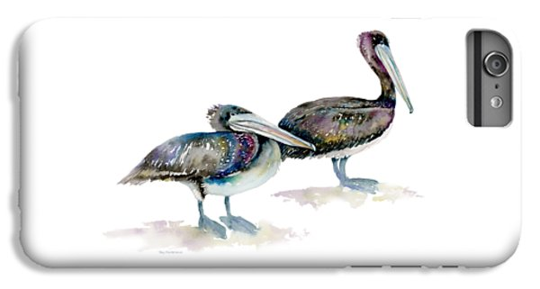 Laurel And Hardy, Brown Pelicans IPhone 6 Plus Case by Amy Kirkpatrick