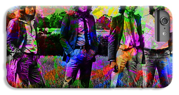 Led Zeppelin Band Portrait Paint Splatters Pop Art IPhone 6 Plus Case by Design Turnpike