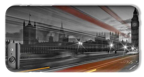 London Red Bus IPhone 6 Plus Case by Melanie Viola