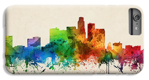 Los Angeles California Skyline 05 IPhone 6 Plus Case by Aged Pixel
