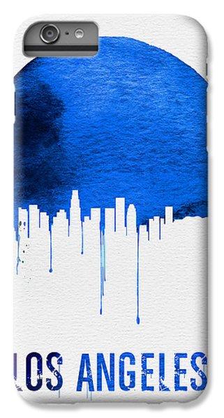 Los Angeles Skyline Blue IPhone 6 Plus Case by Naxart Studio