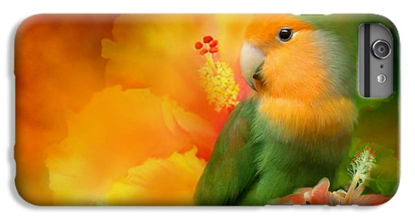 Love Among The Hibiscus IPhone 6 Plus Case by Carol Cavalaris