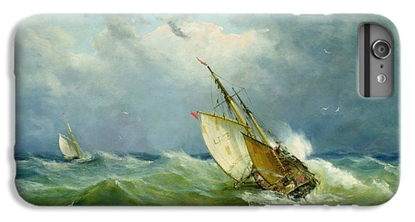 Lowestoft Trawler In Rough Weather IPhone 6 Plus Case by John Moore