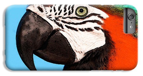 Macaw Bird - Rain Forest Royalty IPhone 6 Plus Case by Sharon Cummings