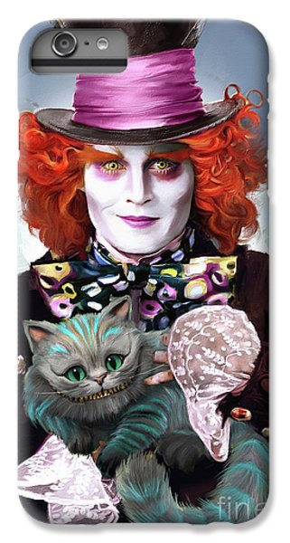 Mad Hatter And Cheshire Cat IPhone 6 Plus Case by Melanie D
