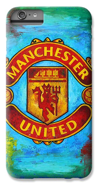 Manchester United Vintage IPhone 6 Plus Case by Dan Haraga
