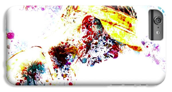 Maria Sharapova Paint Splatter 4p                 IPhone 6 Plus Case by Brian Reaves