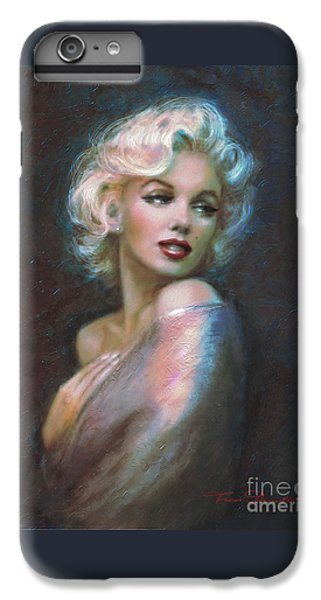 Marilyn Romantic Ww Dark Blue IPhone 6 Plus Case by Theo Danella