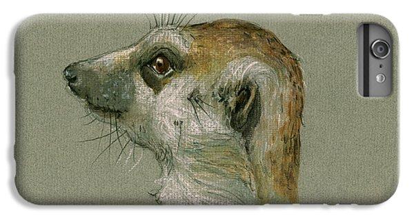 Meerkat Or Suricate Painting IPhone 6 Plus Case by Juan  Bosco