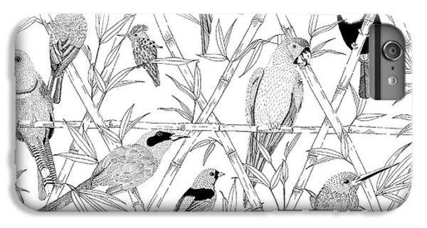 Menagerie Black And White IPhone 6 Plus Case by Jacqueline Colley