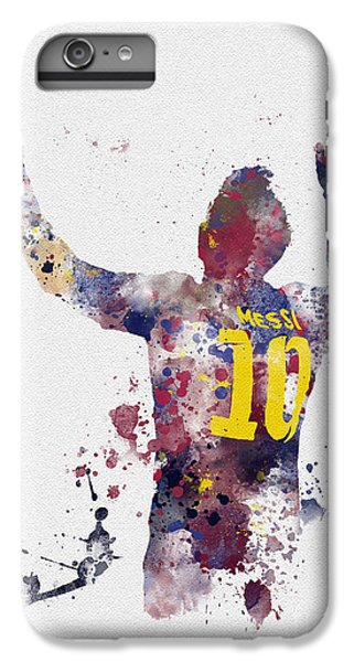 Messi IPhone 6 Plus Case by Rebecca Jenkins