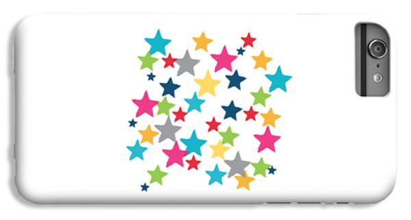 Messy Stars- Shirt IPhone 6 Plus Case by Linda Woods