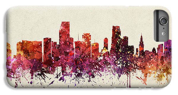 Miami Cityscape 09 IPhone 6 Plus Case by Aged Pixel