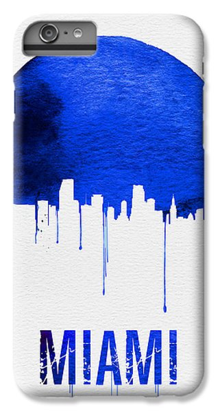 Miami Skyline Blue IPhone 6 Plus Case by Naxart Studio