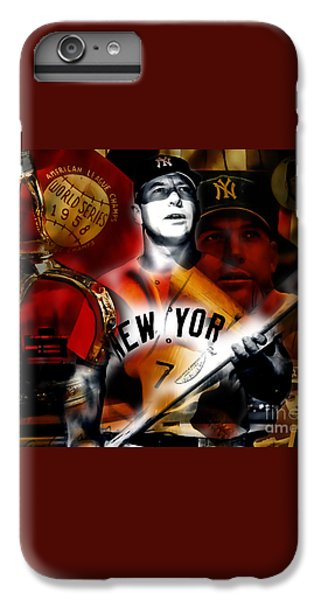 Mickey Mantle Collection IPhone 6 Plus Case by Marvin Blaine