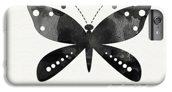Midnight Butterfly 4- Art By Linda Woods IPhone 6 Plus Case by Linda Woods