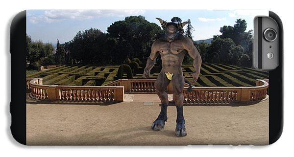 Minotaur In The Labyrinth Park Barcelona. IPhone 6 Plus Case by Joaquin Abella