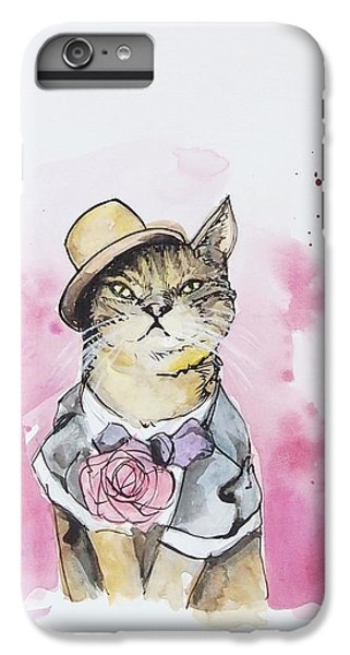 Mr Cat In Costume IPhone 6 Plus Case by Venie Tee