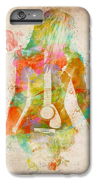 Music Was My First Love IPhone 6 Plus Case by Nikki Marie Smith