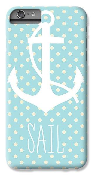 Nautical Anchor Art Print IPhone 6 Plus Case by Taylan Apukovska