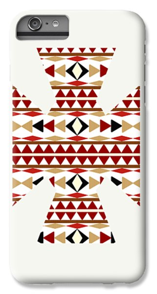 Navajo White Pattern Art IPhone 6 Plus Case by Christina Rollo