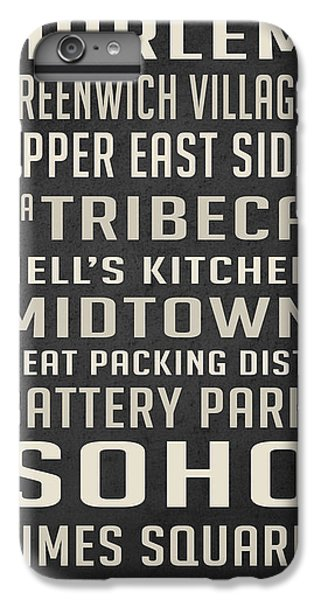 New York City Subway Stops Vintage IPhone 6 Plus Case by Edward Fielding