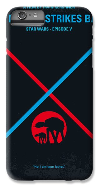 No155 My Star Wars Episode V The Empire Strikes Back Minimal Movie Poster IPhone 6 Plus Case by Chungkong Art