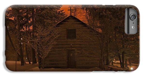 Notre Dame Log Chapel Winter Night IPhone 6 Plus Case by John Stephens