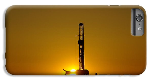 Oil Rig Near Killdeer In The Morn IPhone 6 Plus Case by Jeff Swan