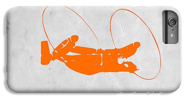 Orange Plane IPhone 6 Plus Case by Naxart Studio