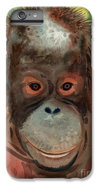 Orangutan IPhone 6 Plus Case by Donald Maier