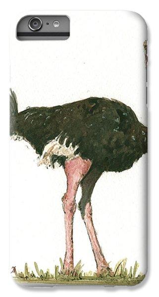 Ostrich Bird IPhone 6 Plus Case by Juan Bosco