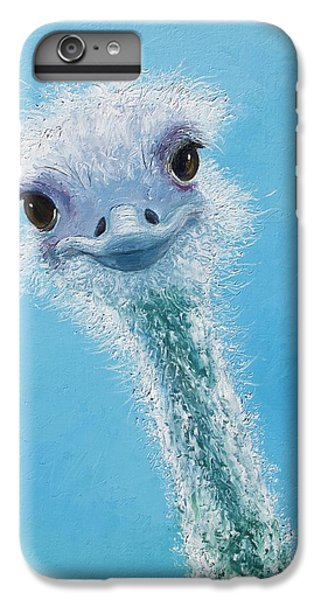 Ostrich Painting IPhone 6 Plus Case by Jan Matson