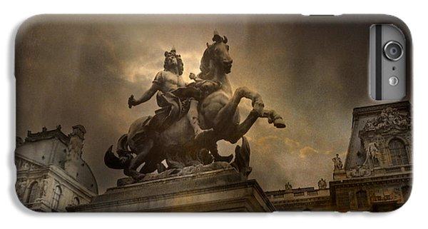 Paris - Louvre Palace - Kings Of Paris - King Louis Xiv Monument Sculpture Statue IPhone 6 Plus Case by Kathy Fornal