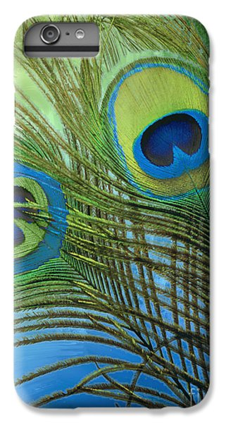 Peacock Candy Blue And Green IPhone 6 Plus Case by Mindy Sommers