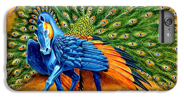 Peacock Pegasus IPhone 6 Plus Case by Melissa A Benson