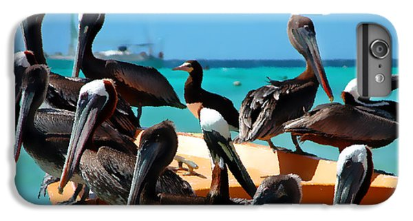 Pelicans On A Boat IPhone 6 Plus Case by Bibi Romer